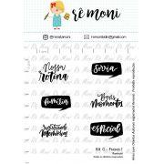 Kit de Carimbos G - Frases 1- Remoni