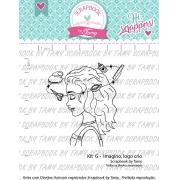 Kit de Carimbos G - Imagino, logo crio - Scrapbook by Tamy