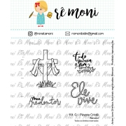 Kit de Carimbos G - Páscoa Cristã - Remoni