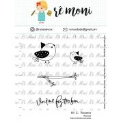 Kit de Carimbos G - Pássaro - Remoni