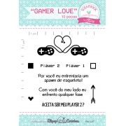 Kit de Carimbos - Gamer Love