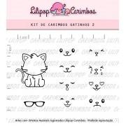 Kit de Carimbos - Gatinhos 2 (LILIPOP CARIMBOS)