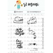 Kit de Carimbos - Gatos by  Remoni