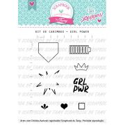Kit de Carimbos - Girl Power - Scrapbook by Tamy