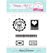 Kit de Carimbos - Happy Mail 2 - Scrapbook by Tamy