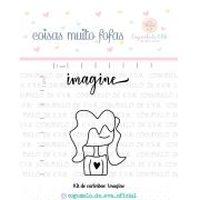 Kit de Carimbos - Imagine - Cogumelo de E.V.A.