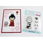 Kit de Carimbos - Kokeshi Doll - Scrapbook by Tamy