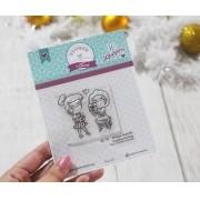 Kit de Carimbos  M - Amiga Secreta - Scrapbook by Tamy (Coleção Natal 2020)
