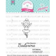 Kit de Carimbos M - Bailarina - Scrapbook by Tamy