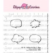 Kit de Carimbos M -  Balões de Fala 2 - Lilipop Carimbos