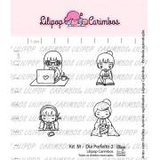 Kit de Carimbos M - Dia Perfeito 2 - Lilipop Carimbos
