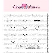 Kit de Carimbos M - Expressões de Bichinhos 1 - Lilipop Carimbos