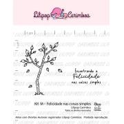 Kit de Carimbos M - Felicidade nas coisas simples - Lilipop Carimbos