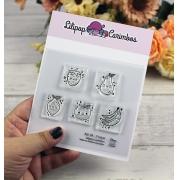 Kit de Carimbos M - Frutas - Lilipop Carimbos