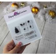 Kit de Carimbos M - Icones Natalinos - Lilipop Carimbos (Coleção Natal 2020)