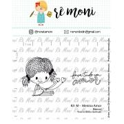 Kit de Carimbos M - Menina Amor - Remoni