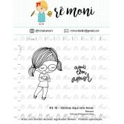 Kit de Carimbos M - Menina Aqui tem Amor - Remoni