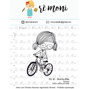 Kit de Carimbos M - Menina Bike - Remoni