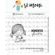 Kit de Carimbos M - Menina Momentos Favoritos - Remoni