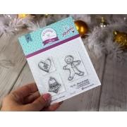 Kit de Carimbos  M - Mesa de Natal - Scrapbook by Tamy (Coleção Natal 2020)