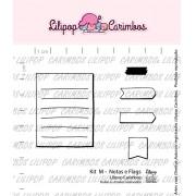 Kit de Carimbos M -  Notas e Flags - Lilipop Carimbos