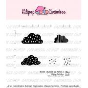 Kit de Carimbos M - Nuvem do Amor 2 - Lilipop Carimbos