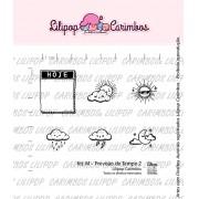 Kit de Carimbos M - Previsão do Tempo 2 - Lilipop Carimbos