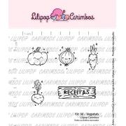 Kit de Carimbos M - Vegetais - Lilipop Carimbos
