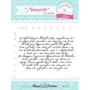 Kit de Carimbos - Manuscrito - Scrapbook by Tamy