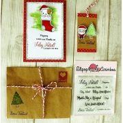 Kit de Carimbos - Mensagem de Natal
