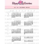 Kit de Carimbos - Meses (LILIPOP CARIMBOS)
