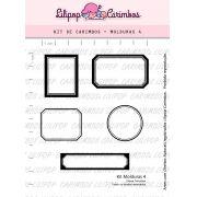 Kit  de Carimbos - Molduras 4  LILIPOP CARIMBOS