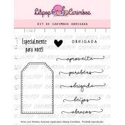 Kit de Carimbos - Obrigada (LILIPOP CARIMBOS)