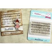 Carimbo Partitura - Scrapbook by Tamy