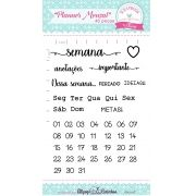 Kit de Carimbos - Planner Mensal - Scrapbook by Tamy