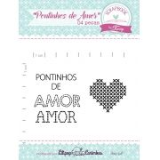 Kit de Carimbos - Pontinhos de Amor - Scrapbook by Tamy