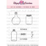 Kit de Carimbos - Potinhos de Amor