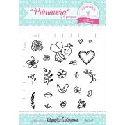 Kit de Carimbos - Primavera - Scrapbook by Tamy
