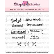Kit de Carimbos - Professor de Inglês (LILIPOP CARIMBOS)