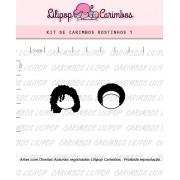 Kit de Carimbos - Rostinhos 1 (LILIPOP CARIMBOS)