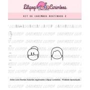 Kit de Carimbos - Rostinhos 2 (LILIPOP CARIMBOS)