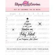 Kit de Carimbos - Tag de Natal (LILIPOP CARIMBOS)