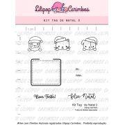 Kit  de Carimbos - Tag de Natal 3 - Lilipop Carimbos