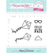 Kit de Carimbos - Tal pai tal filho - Scrapbook by Tamy
