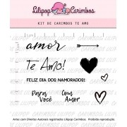 Kit de Carimbos - Te Amo (LILIPOP CARIMBOS)
