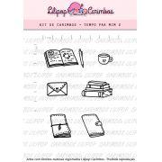 Kit  de Carimbos - Tempo pra Mim 2 (LILIPOP CARIMBOS)