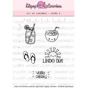 Kit  de Carimbos - Verão 2 (LILIPOP CARIMBOS)