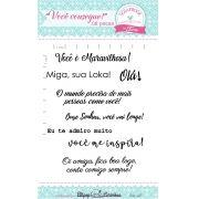 Kit de Carimbos - Você Consegue - Scrapbook by Tamy