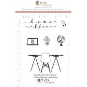 Kit de Carimbos  XG - Home Office - Juju Scrapbook