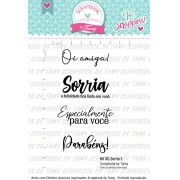 Kit de Carimbos XG - Sorria - Scrapbook by Tamy